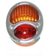 feux 3 fonctions nickelé avec éclairage de plaque