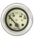 Manomètre de température d'eau électrique- Diamètre 52 mm - fond beige - en 6v - sans sonde