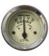 ampèremètre - diamètre 52 mm - beige - 6v ou 12v - la pièce