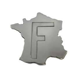 "plaque ""France"" en alu poli"