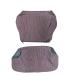 kit de housses de sièges AV + Banquette AR - prêt à poser en tissu rouge rayé
