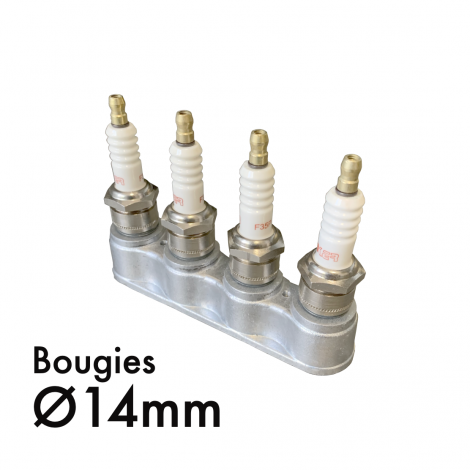 kit 4 bougies et 1 support