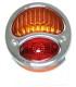 feux 3 fonctions chromé avec éclairage de plaque